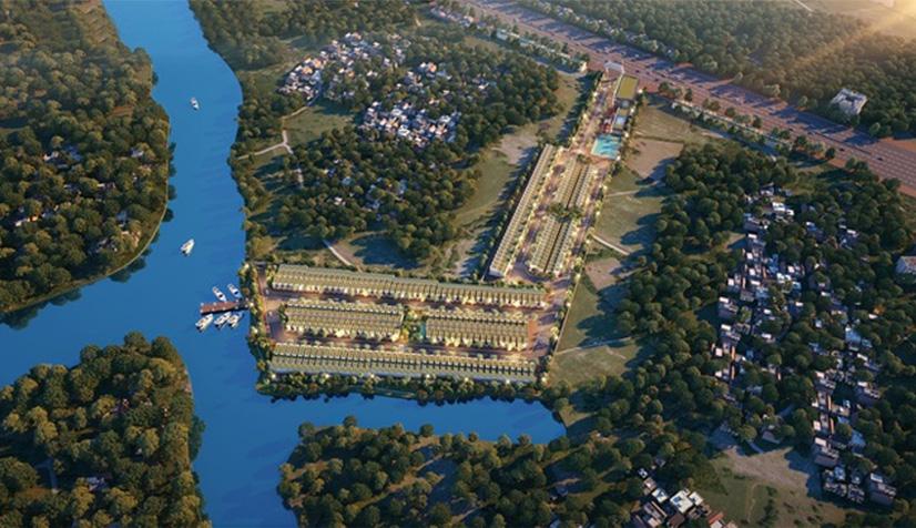 Phối cảnh tổng thể dự án Thanh Niên Mekong City ngay mặt tiền khu đất vàng của Quốc Lộ 1A