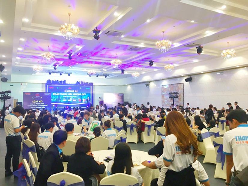 Sự kiện Lễ Công bố dự án Thanh Niên Mekong City đã thu hút hơn 300 khách hàng với gần 100 giao dịch thành công