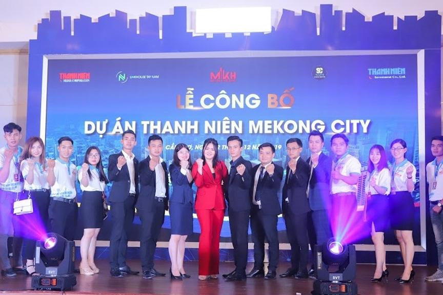 Tập thể SC Holding tại Lễ công bố Dự án Thanh Niên Mekong City.